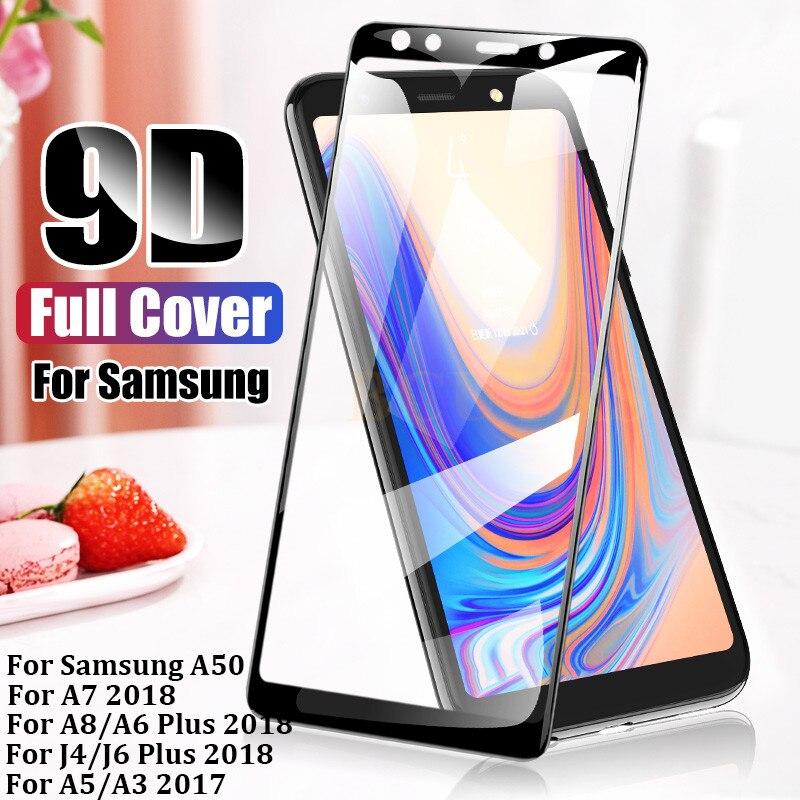 US $1.86 |9D защитное закаленное Стекло для samsung Galaxy A8 A7 2018 Экран протектор для samsung A6 J4 J6 плюс 2018 A5 A3 2017 A50 Стекло|Защитные стекла для экрана телефонов| |  - AliExpress
