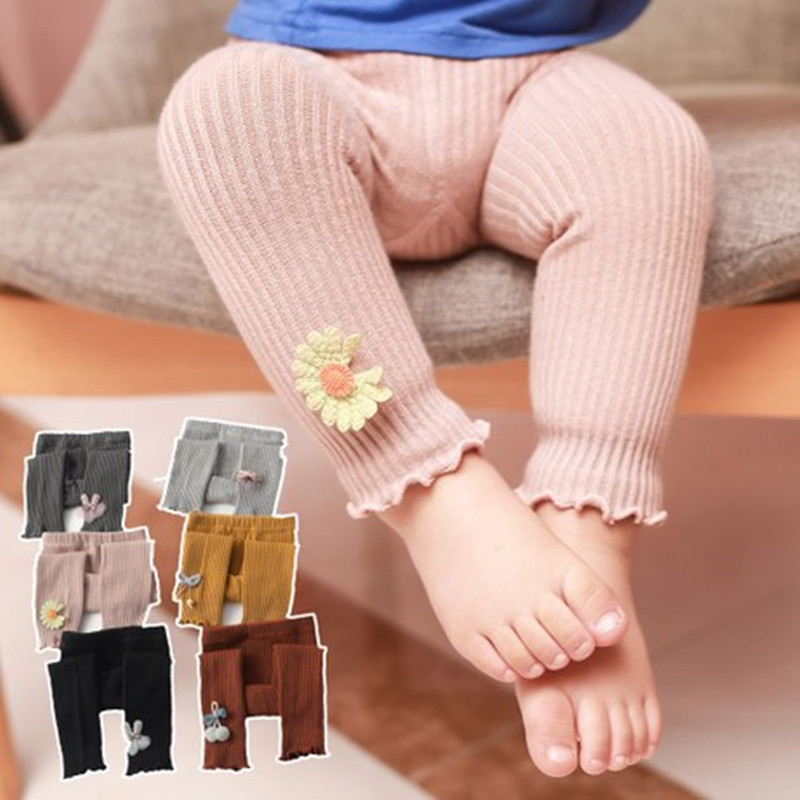 Kids baby girls Leggings Lovely Spell Color Cotton Girls Slim Long Pants Autumn New Arrival Baby Girls Outwear Leggings 6M-4Y(China)