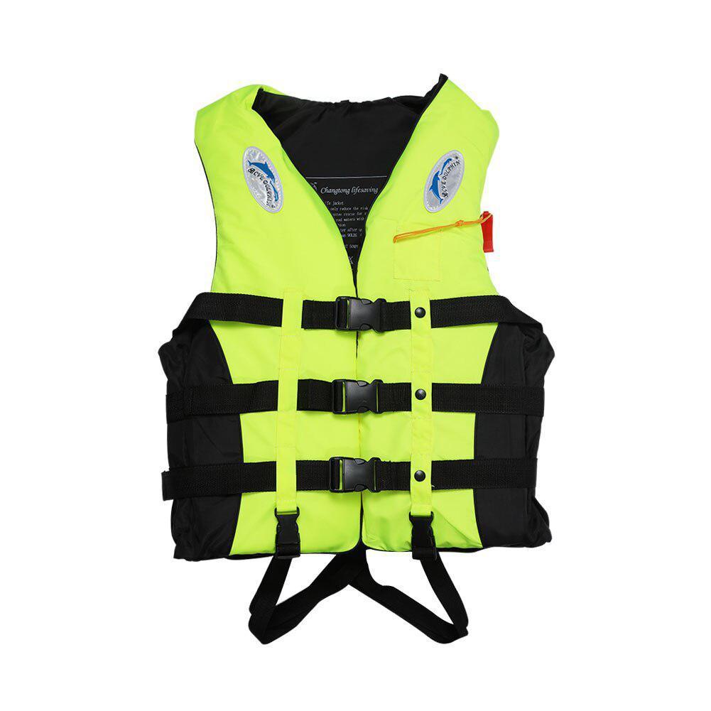 S-3XL Surfing Life Vest Lifesaving Swimming Boating Sailing Vest + Whistle Blue Life Jacket For Adult