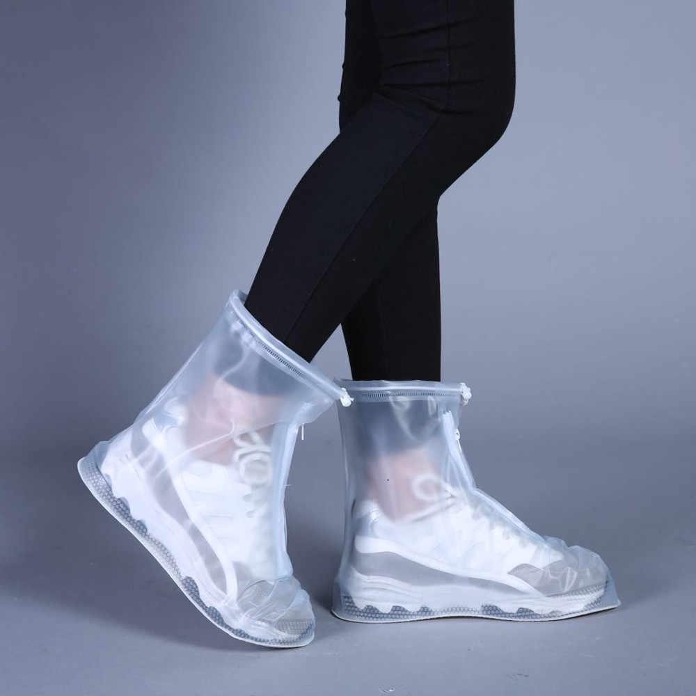 Açık yağmur ayakkabıları bot kapakları su geçirmez kayma dayanıklı galoş galoş seyahat erkekler kadınlar çocuklar için su geçirmez kapakları yağmur çizmeleri