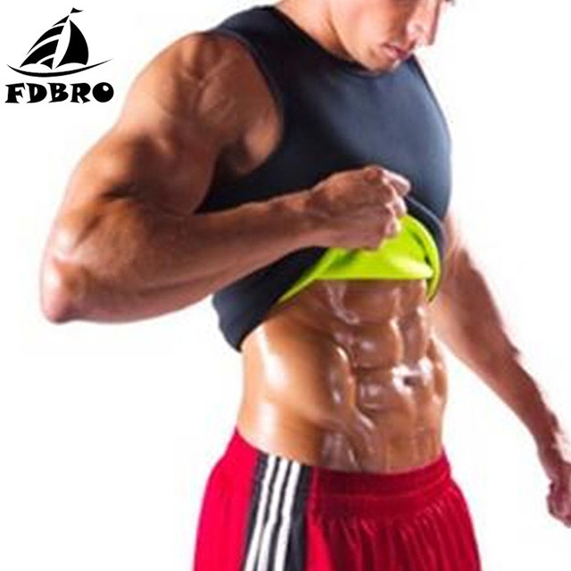 FDBRO Slimming Vest Belly Fitness Belt Waist Trainer Waist Trimmer Sweat Belt Sauna Tops Corset Sport Body Shaper Waist Support