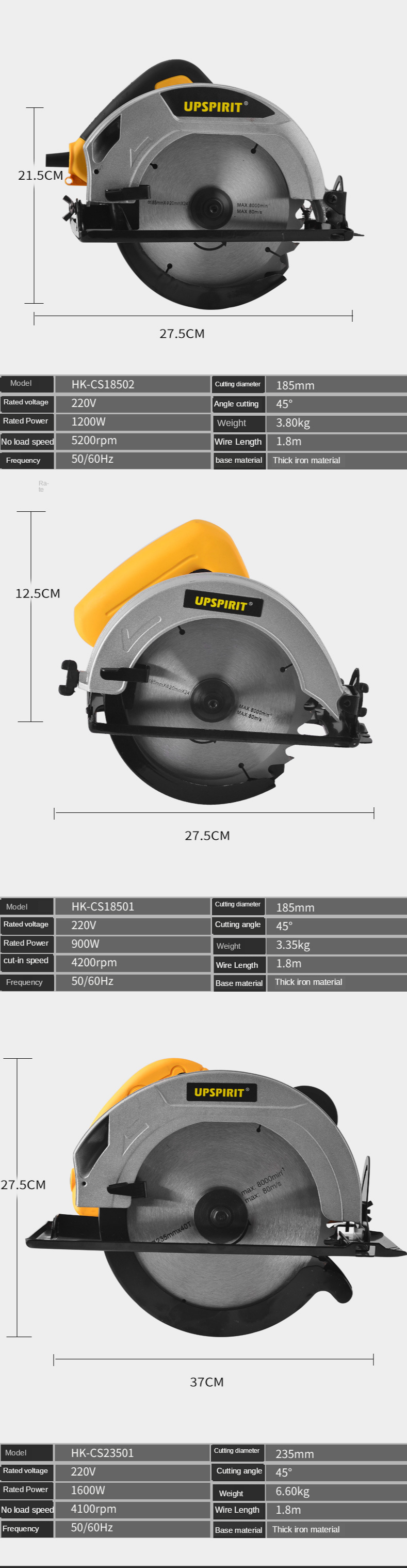 H1249938dce0f44f88a465bd652c172353 - LIVTER HK-CS23501 9 inch High finish cutting surface wood saw  machine for wood ripping
