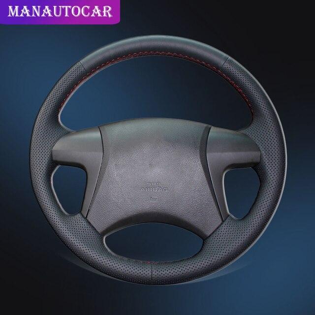 Trenza de coche en la cubierta del volante para Toyota Highlander 2008 2009 2010 2011 2012 2013 2014 Camry 2007 2011 cubierta de la rueda del coche