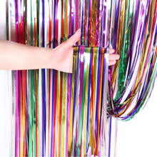 2M Rainbow Glitter Wedding Backdrop Stand Photo Booth Birthday Party Decorations Mariage Foil Fringe Curtain Baby Shower Drapes