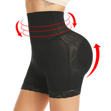 Vrouwen Hoge Taille Kant Butt Lifter Body Shaper Tummy Controle Slipje Boyshort ASS Pad Shorts Hip Enhancer Shapewear(China)