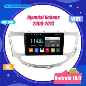 Image 1 - 현대 Rohens 2008 2013 안드로이드 10 2 딘 자동차 라디오 네비게이션 GPS Bt 플레이어 9 인치 스크린 스테레오 헤드 유닛