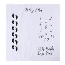 100X100 см детская фотография Реквизит одеяла Маленькие ноги печатных новорожденных фон для фотосъемки ткань украшения