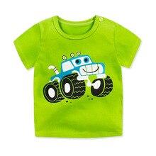 От 1 до 6 лет унисекс; хлопковая футболка с короткими рукавами для мальчиков и девочек; детская одежда с принтом; детская спортивная летняя футболка с круглым вырезом и надписью