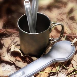 Image 5 - Youpin NexTool cuchara tenedor para exteriores, vajilla portátil de titanio puro, 2 en 1, desmontable, para deportes al aire libre, saludable, conveniente