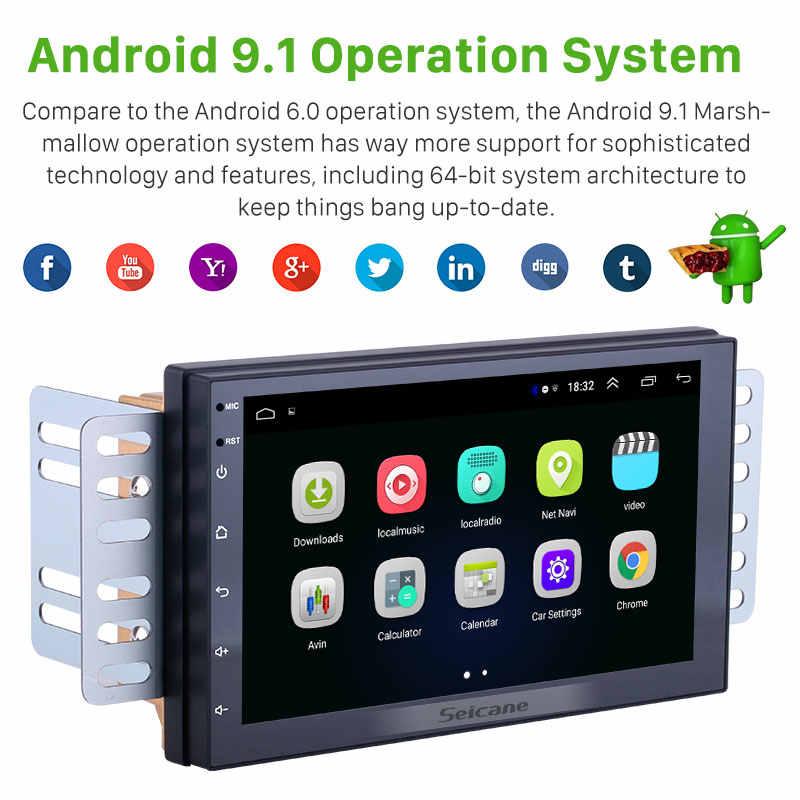 Seicane Android 9.1 7 inç 2 Din evrensel araba radyo GPS multimedya ünitesi oyuncu Volkswagen Nissan Hyundai Kia toyota CR-V