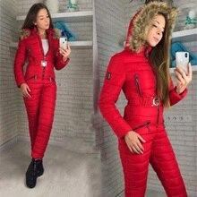 Зимний женский цельный лыжный костюм, дышащая ветрозащитная куртка с капюшоном для сноуборда, лыжные штаны, комплекты, боди, уличные зимние костюмы для России