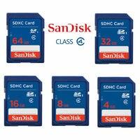 Carte SD SanDisk 2 go/4 go/8 go/16 go/32 go carte mémoire numérique sécurisée SD SDHC Standard classe 4 Ultra mémoire avec lecteur de carte utilisé