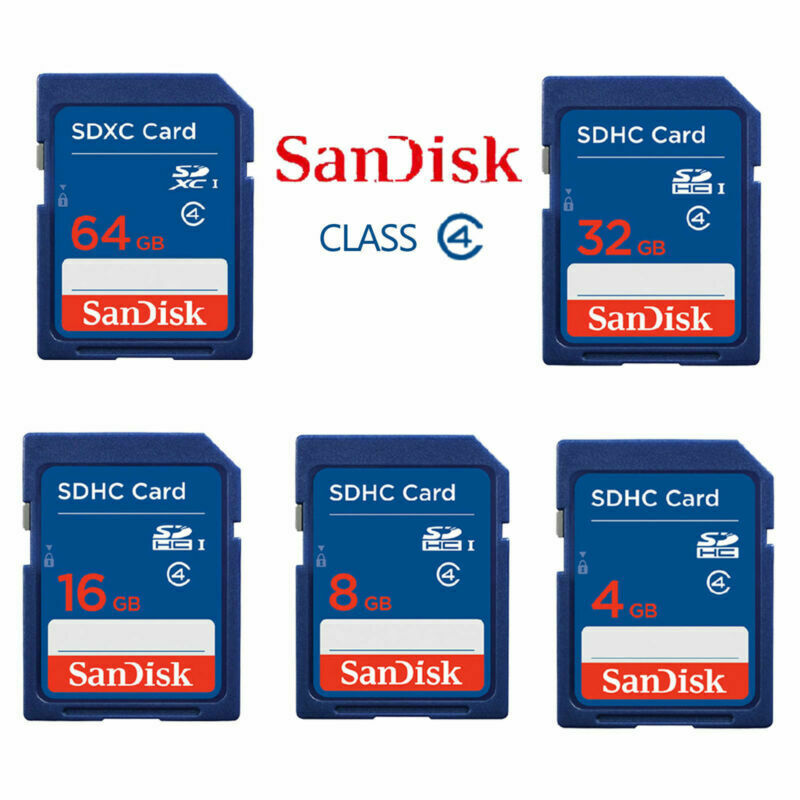 SanDisk SD Card 2GB/4GB/8GB/16GB/32GB SD Secure Digital Memory Card SD SDHC Standard Class 4 Ultra Memory with Card Reader Used