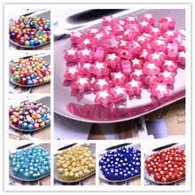 NEW 50pcs Five-pointed Star Acrylic Beads Loose Spacer Beads for Jewelry Making DIY Bracelet Accessories