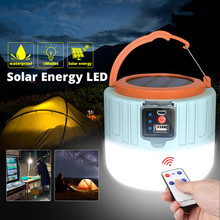 New LED Solar Camping Light USB Rechargeable Bulb Outdoor Tent Lamp Portable Lanterns Emergency Night Lights for Hiking Fishing cheap PAMNNY CN(Origin) ROHS Outdoor Camping Light Lithium Metal LED Bulbs Portable Lighting Rechargeable Battery Wedge Camping Lantern