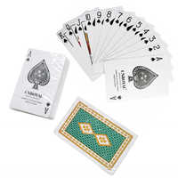 White PVC Plastic Playing Cards Waterproof Durable Poker Cards Game Deck Poker Set Magic Green Blue 2 Color Gift Cards