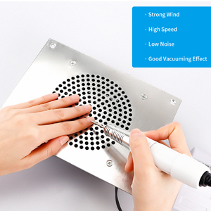 Image 3 - Built in Table Desk Nail Dust Suction Vacuum Cleaner Nail Polish Dust Collector Manicure Machine Nail Gel Vacuum Remover Device