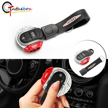 Gtinthebox Key Cover JCW Brake Disc Shape 3/4 button Key Fob Case Shell with Keychain Ring Belt For MINI Cooper F55 F56 F57 F60