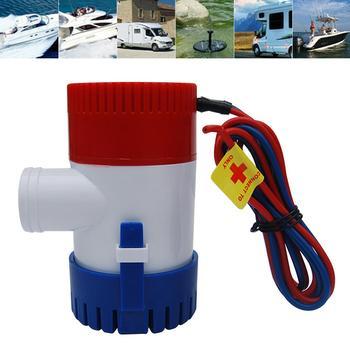 1100GPH 12V elektryczne morskie zatapialne pompa wodna do łodzi RV Campers trwała pompa wodna z przełącznikiem zęzowym akcesoria do łodzi tanie i dobre opinie 1001-1500gph 1-4a 12 v
