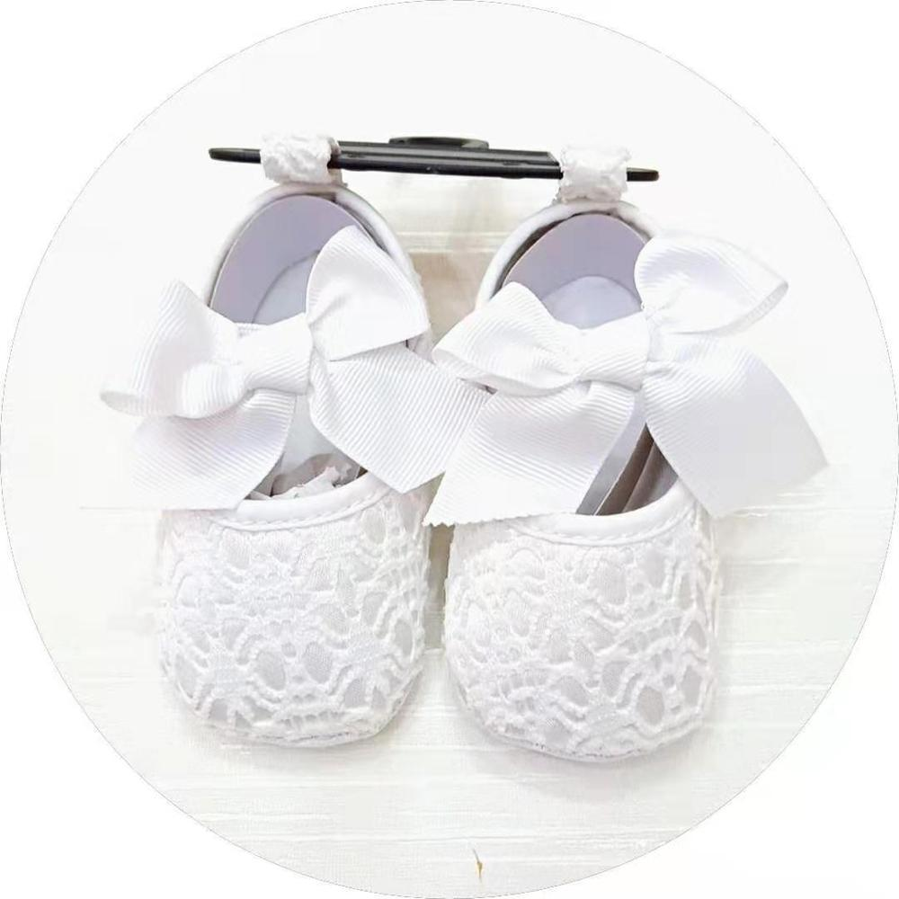 Baby Girl Christening Shoes 2020 Spring Baby Girl  Princess Shoes Red Pink White Lace Baby Walking Shoes Bowknot Baby Girl Shoes