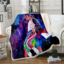 Michael Jackson 3d printed fleece blanket for Beds Hiking Picnic Thick Quilt Fashionable Bedspread Sherpa Throw Blanket style-4 stranger things blanket for beds hiking picnic travel winter thick couch cover hot movies bedspread sherpa fleece throw blanket