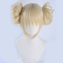 Anime My Hero Academia Boku no Hero Academia Himiko Toga Wig Blonde Short Styled Cosplay Wigs + Wig Cap