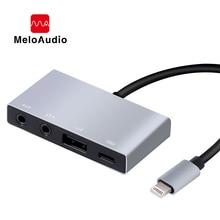 MeloAudio Lightning A Adaptador de Audio USB OTG, macho a hembra, con función de sincronización Aux de carga de transmisión, No se necesita aplicación