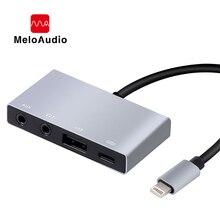 MeloAudio Lightning na USB OTG Adapter Audio, męski na żeński, z funkcją ładowania Aux Jack Sync, bez aplikacji