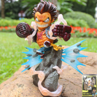 7.87''ONE PIECE GK The straw hat Pirates Gear fourth Luffy Battle scene version PVC Action Figure Model Toy Boxed 20cm