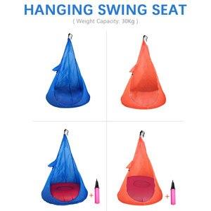 Hanging Swing Seat Home Child Hammock Chair Kids Swing Chair Portable Outdoor Indoor Garden Travel Max Capacity 30kg