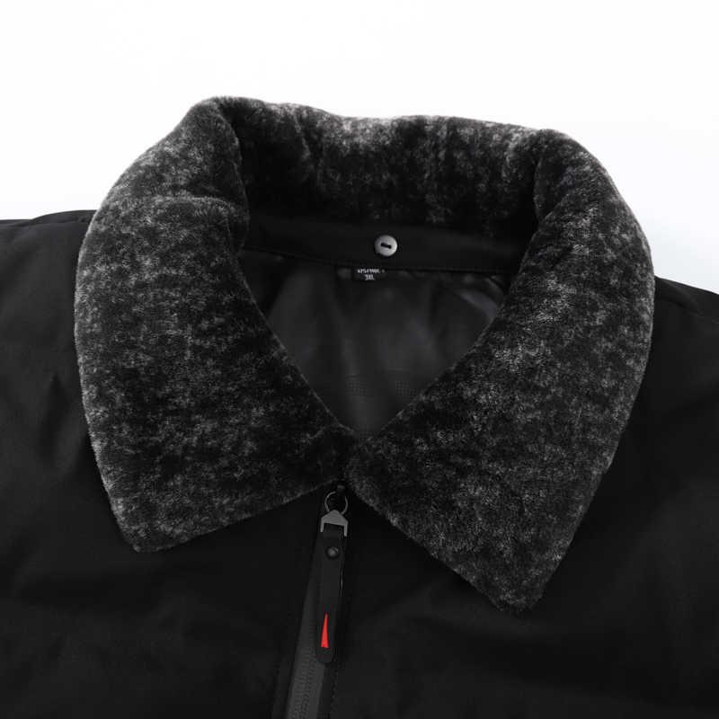 プラスサイズ 8XL 7XL 冬超軽量男性のブランド服 90% 白アヒルダウンジャケットスタンド襟シームレス暖かいパーカー