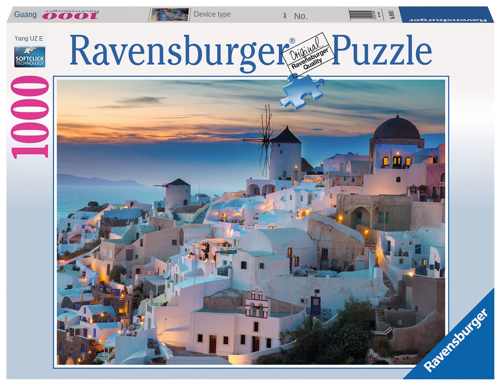 Ravensburger Santorini's Night 1000 Pieces Of Imported Puzzles