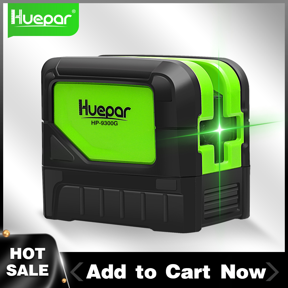 Huepar 3-Point Green Laser Level Self-Leveling and Tilt Function Tool for Welding and Positioning of Reference Points