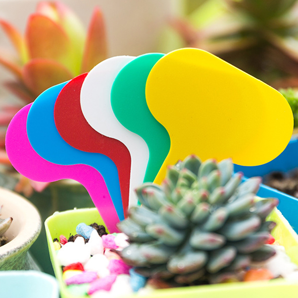 100Pcs Plant Tags T type Garden Nursery Label PP Plastic Plant Tags Markers Nursery Pots Seedling Labels Tray Mark Tools|Plant Markers|Home & Garden - title=