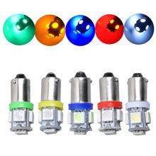 Ampoule BA9S T4W 6.3V 6V, 20 pièces, sans polarité, Machine à Pinball, anti-scintillement, 5SMD blanc rouge bleu AC DC6V