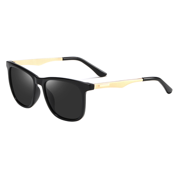 2020 Fashion Retro Women's HD Polarized Sunglasses UV400 Protection Square Anti-glare Driving Sun Glasses for Men 1