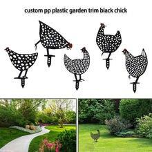 Dekoracja podwórka z kurczaka na zewnątrz trawnik na podwórku realistyczne kurze ozdoby kurze ozdoby ogrodowe sylwetka stawka rzeźba z kurczaka statua