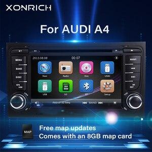 2 din Car Radio Multimedia Player For Audi A4 B6 B7 S4 B7 B6 RS4 B7 SEAT Exeo 2002-2008 GPS Navigation head unit DVD stereoAudio(China)