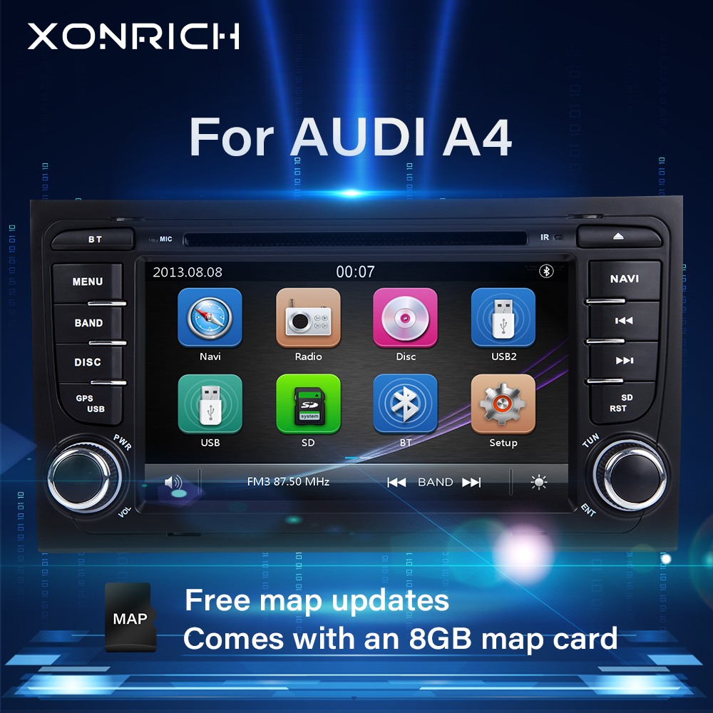 2 din Car Radio <font><b>Multimedia</b></font> Player For <font><b>Audi</b></font> <font><b>A4</b></font> <font><b>B6</b></font> B7 S4 B7 <font><b>B6</b></font> RS4 B7 SEAT Exeo 2002-2008 GPS Navigation head unit DVD stereoAudio image