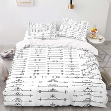 Duvet-Cover-Set Size-Bedding King with Pillowcase 140200 Retro-Pattern American