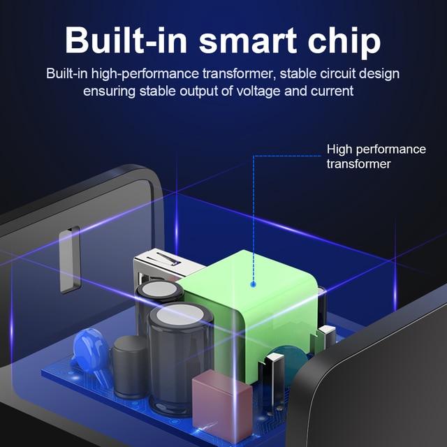 3A Carica Rapida 3.0 USB del Caricatore Della Parete di UE Adattatore Del Caricatore Del Telefono Mobile per il iPhone X MAX 7 8 QC3.0 Veloce di ricarica per Samsung Xiaomi 5