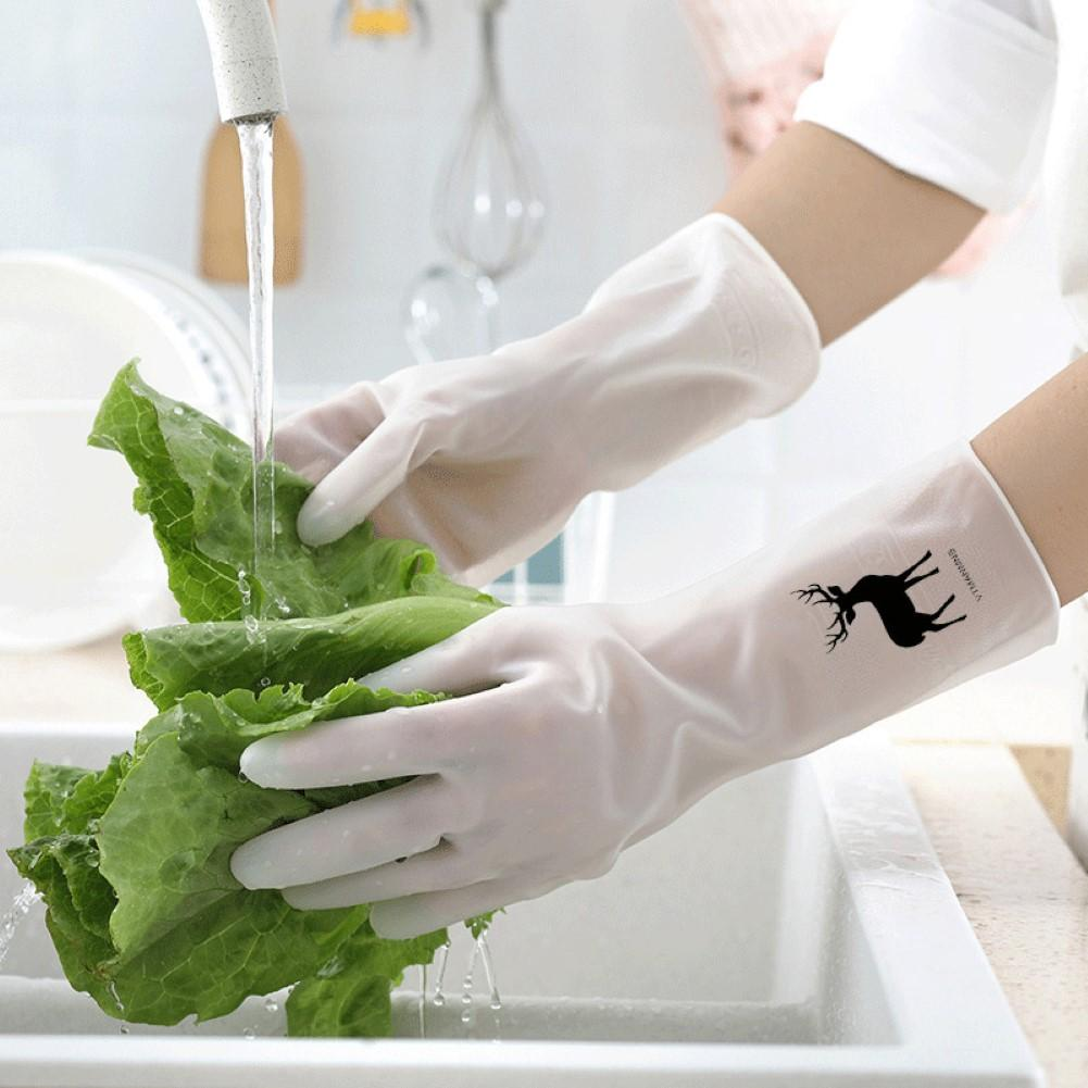 Waterproof Reusable Rubber Protective Household Kitchen Washing Cleaning Gloves Protective Household Kitchen Washing Cleaning