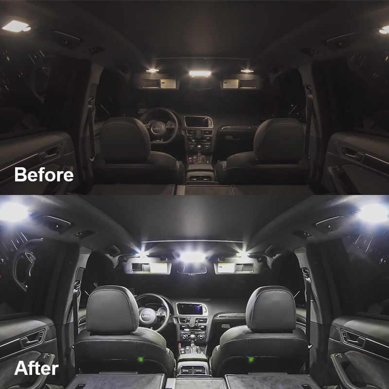 3x Canbus 백색 LED 전구 2013-2019 년 동안 실내 장비 마쓰다 CX-9 장갑 상자 간선화물 면허 램프 12V 차 빛 신