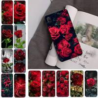 밝은 붉은 장미 꽃 전화 케이스 Redmi 참고 8Pro 8T 9 Redmi 참고 6pro 7 7A 6 6A 8 5plus note 9 pro Case