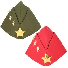 Soldier Dance Women Boat Caps Russian Female Army Navy Berets Hats Military Dancing Pentagram Cosplay Caps Children Sailor Hat military hats white captain sailor hat navy marine caps with anchor army hats for women men child fancy cosplay hat accessories