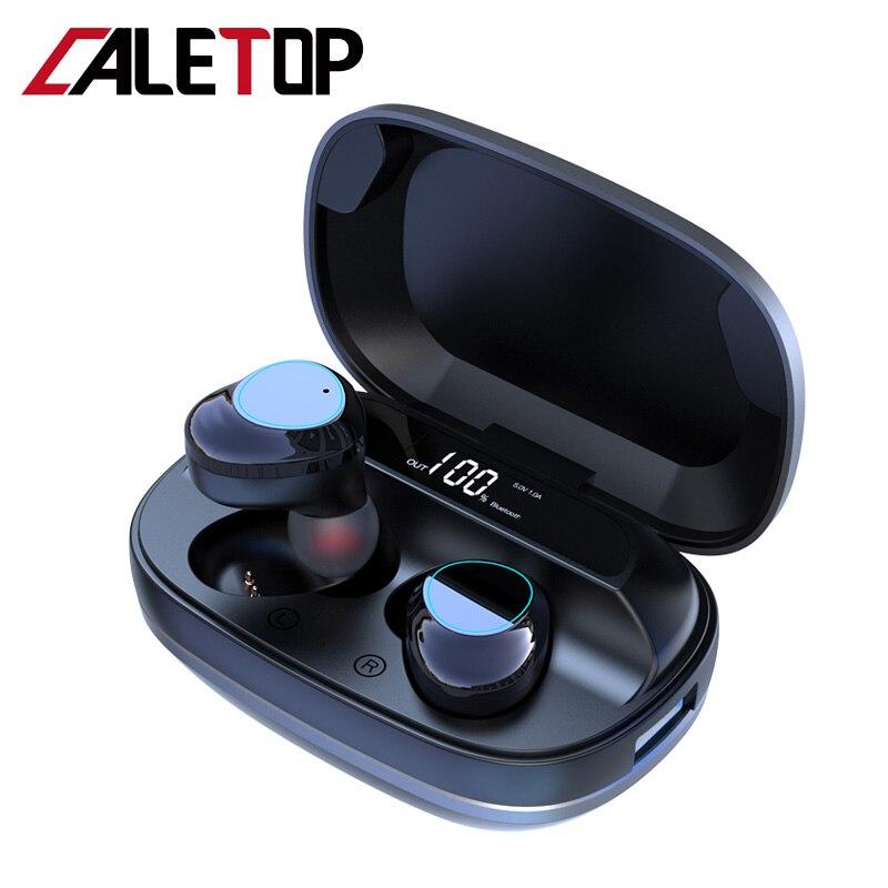 CALETOP G16 TWS 5.0 Bluetooth Earphone Heavy Bass 6D Stereo HiFi Sound LED Display Headsets 6000mAh Charging Box IPX7 Waterproof