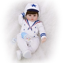 60CM reborn Baby boy doll and Casual style clothes Kids soft Silicone Lifelike Newborn Toy for Girls Birthday Gift toys