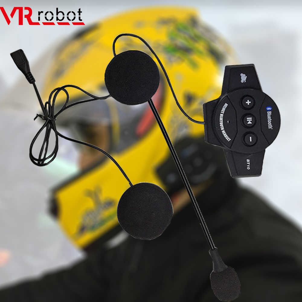 VR Robot Motocycle Bluetooth V4.1 Helmet Headset Wireless Moto Stereo Earphone MP3 Music Handsfree Interphone Headsets