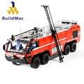 BulidMOC противопожарный MOC-4446 аварийный тендер для аэропорта лодки строительные блоки журавль город пожарный Кирпичи Детские игрушки