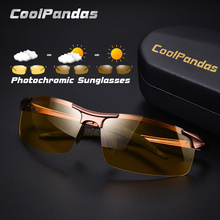 CoolPandas Yellow lens Change Brown Photochromic Sunglasses Men Polarized Night Vision Driving Glasses Oculos zonnebril heren
